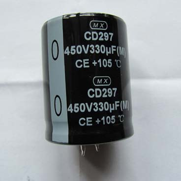 330uF 450V Snap In Aluminum Electrolytic Capacitor